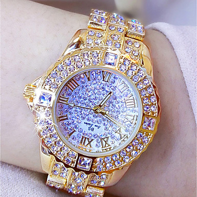 Women's Luxury Watches Dress Watch Wrist Watch Japanese Quartz Silver / Gold 30 m Creative New Design Luminous Analog Ladies Luxury Sparkle - Gold Silver Two Years Battery Life / Imitation Diamond