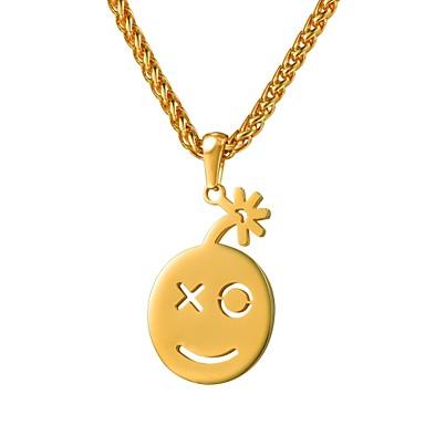 Žene Ogrlice s privjeskom Lice dame Moda Slatka Style Tikovina Zlato Rose Gold 55 cm Ogrlice Jewelry 1pc Za Dar Dnevno