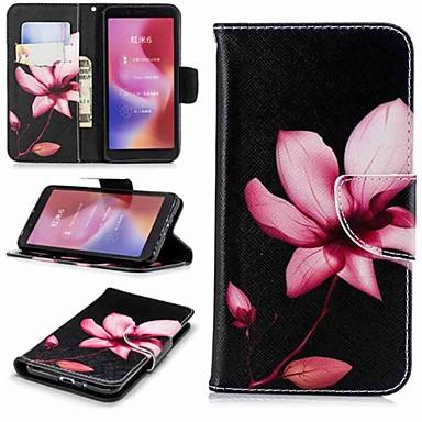 Θήκη Za Xiaomi Xiaomi Redmi Note 5 Pro / Redmi 6A / Redmi 6 Novčanik / Utor za kartice / sa stalkom Korice Cvijet Tvrdo PU koža