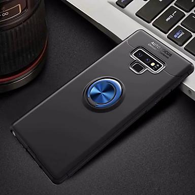 Недорогие Чехлы и кейсы для Galaxy Note-Кейс для Назначение SSamsung Galaxy Note 9 со стендом / Кольца-держатели Кейс на заднюю панель Однотонный Мягкий ТПУ