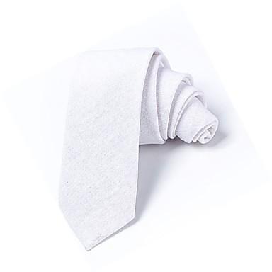 ربطة العنق لون سادة رجالي أساسي