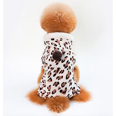 رخيصةأون ملابس وإكسسوارات الكلاب-كلاب قطط المعاطف الشتاء ملابس الكلاب بني كوستيوم دالميشين كلب البج Bichon فرايز صوف مخمل 100% جلد نمر كاجوال / يومي دافئ / تدفيئ S M L XL XXL
