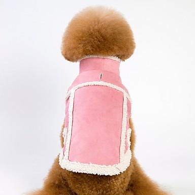 كلاب قطط المعاطف سترة ملابس الكلاب لون سادة بني زهري فو الفراء القطبية ابتزاز كوستيوم من أجل كلب البج Bichon فرايز أفطس الخريف الشتاء للجنسين دافئ / تدفيئ بريطاني