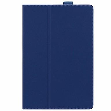 غطاء من أجل Huawei MediaPad Huawei MediaPad M5 10 مع حامل غطاء كامل للجسم لون سادة قاسي جلد PU
