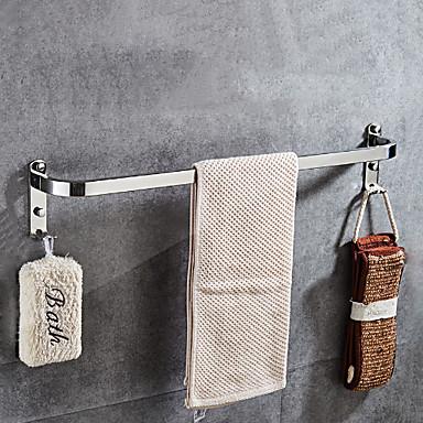 قضيب المنشفة تصميم جديد معاصر الفولاذ المقاوم للصدأ / الحديد 1PC فردي مثبت على الحائط
