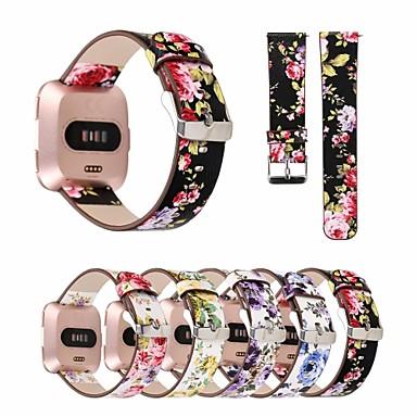Pogledajte Band za Fitbit Versa Fitbit Kožni remen Prava koža Traka za ruku