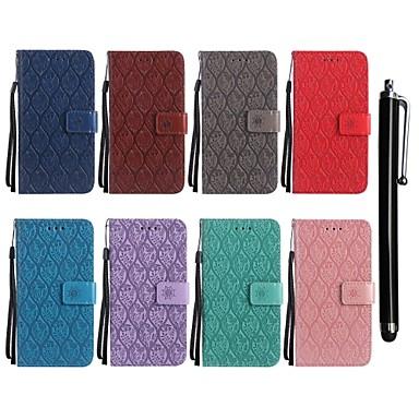 Недорогие Чехлы и кейсы для LG-Кейс для Назначение LG LG X Power / LG V30 / LG V20 Кошелек / Бумажник для карт / со стендом Чехол Цветы Твердый Кожа PU / LG G6