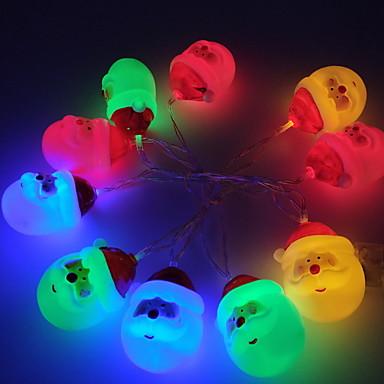 1.5m Žice sa svjetlima 10 LED diode Toplo bijelo / Bijela / Više boja New Design / Ukrasno / Cool AA baterije su pogonjene 1set