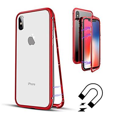 Недорогие Кейсы для iPhone 7 Plus-Кейс для Назначение Apple iPhone XS / iPhone XR / iPhone XS Max Полупрозрачный Чехол Однотонный Твердый Закаленное стекло