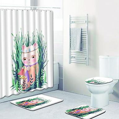 3 قطعات كرتون مماسح الحمام 100g / m2 البوليستر الإمتداد حك حيوان غير منتظم بديع