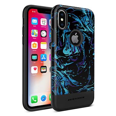 BENTOBEN Θήκη Za Apple iPhone X / iPhone XS Pozlata / IMD / Uzorak Stražnja maska Linije / valovi / Voće Tvrdo TPU / PC za iPhone XS / iPhone X