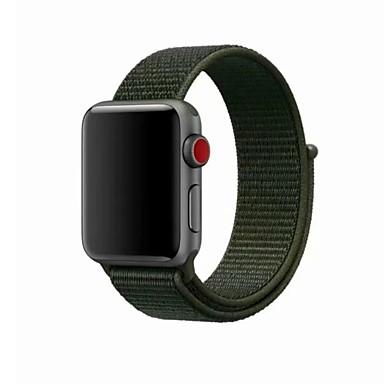 رخيصةأون قيود ساعات-نايلون حزام حزام إلى Apple Watch Series 4/3/2/1 أزرق / أخضر / رمادي 23CM / 9 بوصة 2.1cm / 0.83 Inches