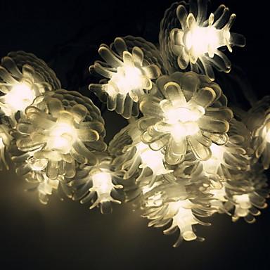 3M Žice sa svjetlima 20 LED diode Toplo bijelo New Design / Ukrasno / Cool AA baterije su pogonjene 1set