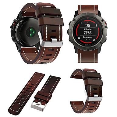 voordelige Smartwatch-accessoires-Horlogeband voor Fenix 5x / Fenix 5x Plus / Fenix6X Garmin Leren lus Echt leer Polsband