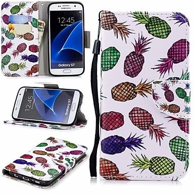 غطاء من أجل Samsung Galaxy S7 محفظة / حامل البطاقات / مع حامل غطاء كامل للجسم فاكهة قاسي جلد PU