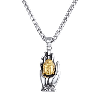 Muškarci Ogrlice s privjeskom Klasičan franko lanac ruke Buda Klasik Vintage Tikovina Pink 55 cm Ogrlice Jewelry 1pc Za Dar Dnevno