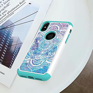 Θήκη Za Apple iPhone X / iPhone 8 Otporno na trešnju / Štras / Uzorak Stražnja maska Mandala / Cvijet Tvrdo PC za iPhone X / iPhone 8 Plus / iPhone 8