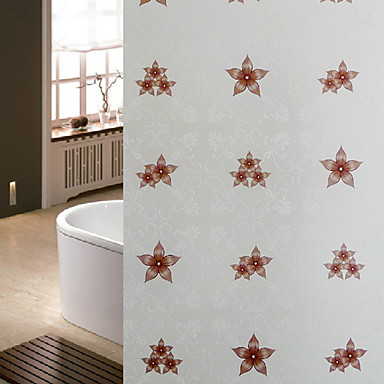 فيلم نافذة وملصقات زخرفة معاصر / العادي هندسي PVC ملصق النافذة / محبوب