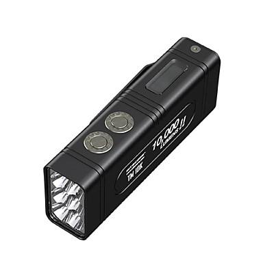 olcso Zseblámpák-Nitecore TM10K Kézi elemlámpák LED LED Sugárzók 1 világítás mód akkukkal és töltővel Menő Mindennapokra