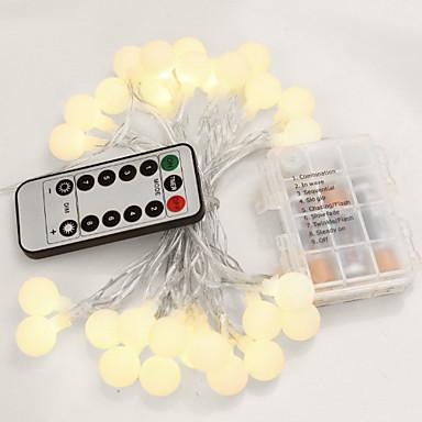 5m Žice sa svjetlima 50 LED diode Bijela Ukrasno / Divan Baterije su pogonjene 1set