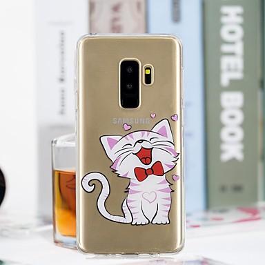 Θήκη Za Samsung Galaxy S9 Plus / S9 Prozirno / Uzorak Stražnja maska Mačka Mekano TPU za S9 / S9 Plus / S8 Plus