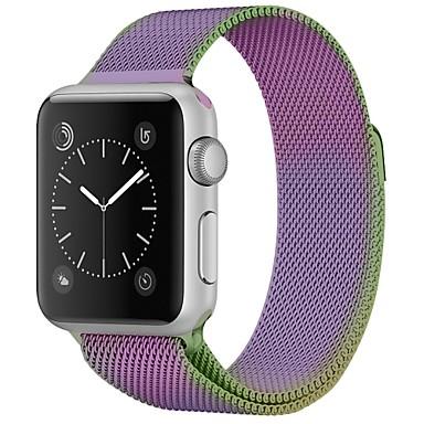 olcso Karóra tartozékok-Rozsdamentes acél Nézd Band Szíj mert Apple Watch Series 4/3/2/1 Bíbor 23cm / 9 inch 2.1cm / 0.83 Hüvelyk
