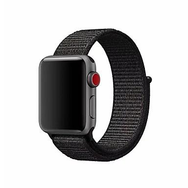رخيصةأون قيود ساعات-نايلون حزام حزام إلى Apple Watch Series 4/3/2/1 أسود / فضة / البرتقال 23CM / 9 بوصة 2.1cm / 0.83 Inches