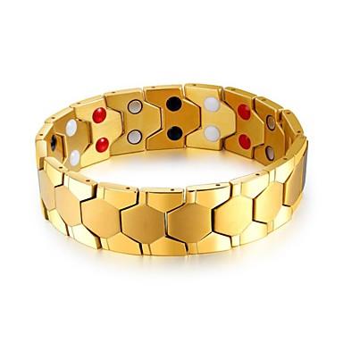 Muškarci Narukvica Sa stilom Kreativan Moda Titanium Steel Narukvica Nakit Zlato / Pink / Duga Za Party Dnevno