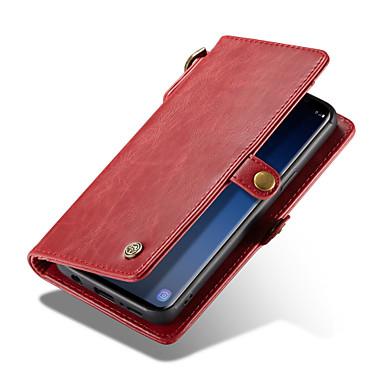 Недорогие Чехлы и кейсы для Galaxy S-CaseMe Кейс для Назначение SSamsung Galaxy S9 Plus / S9 Кошелек / Бумажник для карт Чехол Однотонный Твердый Кожа PU для S9 / S9 Plus / S8 Plus