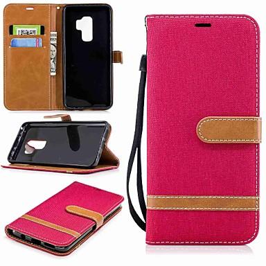 Θήκη Za Samsung Galaxy S9 / S9 Plus / S8 Plus Novčanik / Utor za kartice / sa stalkom Korice Jednobojni Tvrdo Tekstil