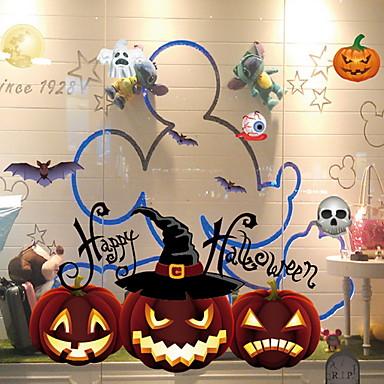 فيلم نافذة وملصقات زخرفة Halloween عطلة / كلاسيكي PVC كوول