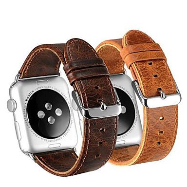 baratos Acessórios Para Celular-pulseira de couro relógio inteligente para apple watch series 5/4/3/2/1 apple iwatch couro loop couro genuíno esporte bandas de negócios high-end moda confortável saúde saúde pulseiras