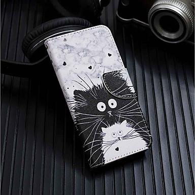 غطاء من أجل Xiaomi Redmi 6 محفظة / حامل البطاقات / مع حامل غطاء كامل للجسم قطة قاسي جلد PU إلى Redmi 6A / Redmi 6