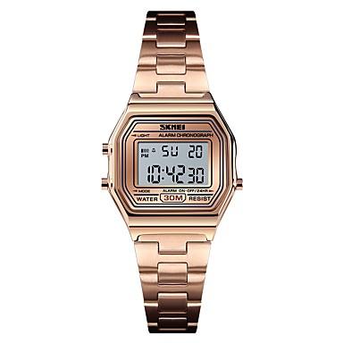 5cdd400dd84 SKMEI Mulheres Relógio Esportivo Relógio Militar Digital Aço Inoxidável  Prata   Dourada   Ouro Rose 30 m Alarme Calendário Cronógrafo Digital  senhoras ...