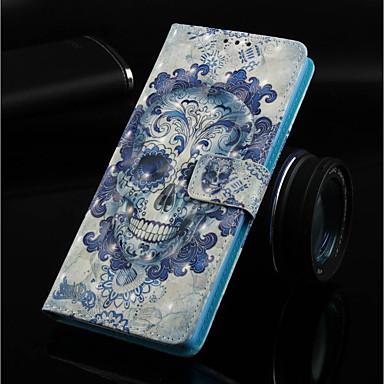 Θήκη Za Samsung Galaxy Note 9 / Note 8 Novčanik / Utor za kartice / sa stalkom Korice Lubanje Tvrdo PU koža za Note 9 / Note 8