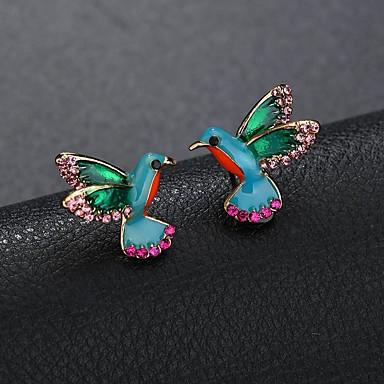 Žene Sitne naušnice Skulptura Mini Ptica dame Crtići Slatka Style Umjetno drago kamenje Naušnice Jewelry Duga Za Dnevno Izlasci 1 par