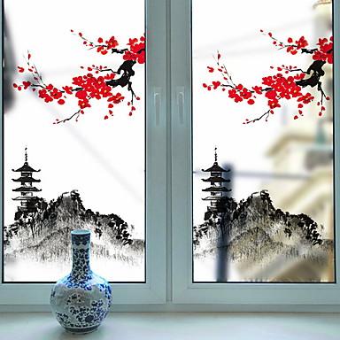 فيلم نافذة وملصقات زخرفة فني / ريترو / كلاسيكي ورد PVC تصميم جديد / كوول