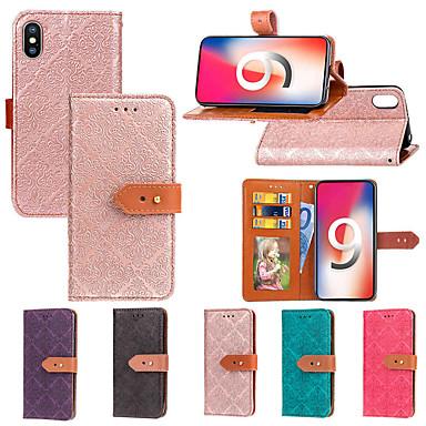 Θήκη Za Apple iPhone XS / iPhone XR / iPhone XS Max Novčanik / Utor za kartice / sa stalkom Korice Țiglă Tvrdo PU koža