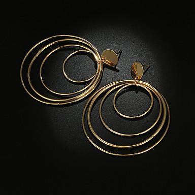 Žene Viseće naušnice Više slojeva Kreativan krafne Statement dame Vintage Hiperbola Naušnice Jewelry Zlato Za Vjenčanje Party 1 par