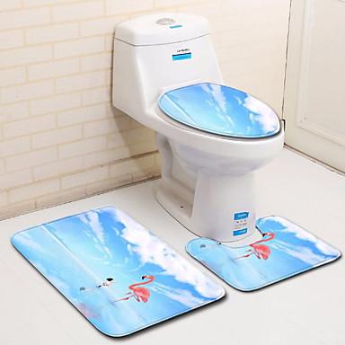 3 komada Ležerne prilike / Moderna Prostirke za kupaonicu 100g / m2 poliester Knit Stretch Životinja Neregularan Divan