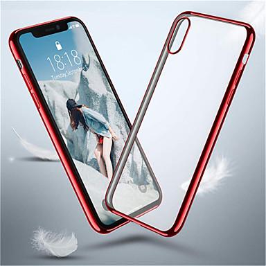 voordelige iPhone-hoesjes-hoesje Voor Apple iPhone XS / iPhone XR / iPhone XS Max Beplating Achterkant Effen Zacht TPU