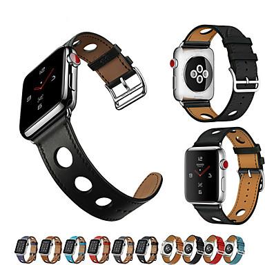 Pogledajte Band za Apple Watch Series 5/4/3/2/1 Apple Klasična kopča / Kožni remen Prava koža Traka za ruku