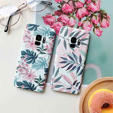 رخيصةأون حافظات / جرابات هواتف جالكسي S-غطاء من أجل Samsung Galaxy S9 / S9 Plus / S8 Plus نموذج غطاء خلفي النباتات قاسي الكمبيوتر الشخصي