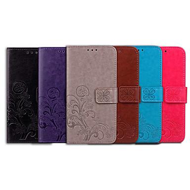 Недорогие Чехлы и кейсы для Nokia-Кейс для Назначение Nokia Nokia 7 Plus Бумажник для карт / Флип Чехол Однотонный / Мандала Мягкий Кожа PU