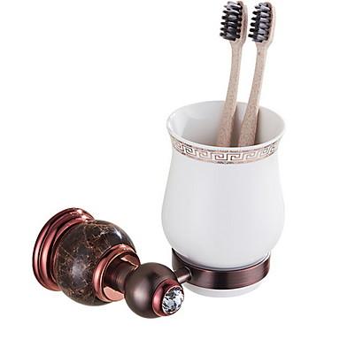 حاملة فرشاة الأسنان تصميم جديد / كوول معاصر نحاس 1PC فرشاة الأسنان وملحقاتها مثبت على الحائط