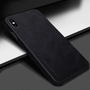 Nillkin غطاء من أجل Apple iPhone XR / iPhone XS Max حامل البطاقات / قلب غطاء كامل للجسم لون سادة قاسي جلد PU إلى iPhone XS / iPhone XR / iPhone XS Max
