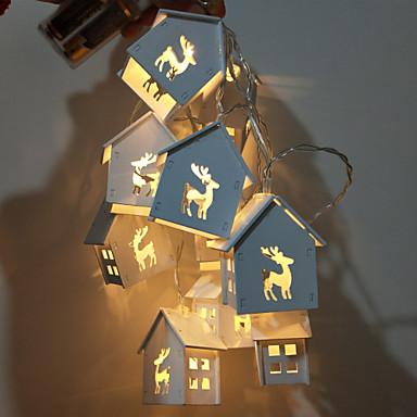 1set LED noćno svjetlo Toplo bijelo AA baterije su pogonjene Za djecu / Vjenčanje / Ukras <5 V Žice sa svjetlima