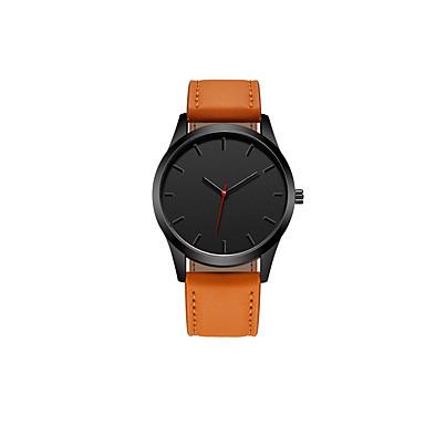 رجالي ساعة المعصم كوارتز جلد اصطناعي أسود / بني 30 m مقاوم للماء تصميم جديد ساعة كاجوال تناظري-رقمي كلاسيكي موضة الحد الأدنى - أسود بني / ستانلس ستيل