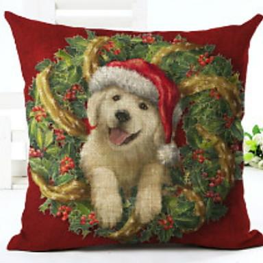 Navlaka za jastuk / Božić Odmor Tekstil Pravokutno Noviteti Božićni ukras