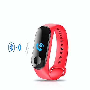 M3 الذكية معصمه بلوتوث اللياقة البدنية تعقب دعم الإخطار / رصد معدل ضربات القلب الرياضة للماء smartwatch للهواتف فون / سامسونج / الروبوت